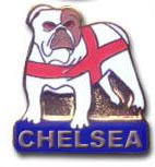 CHELSEA BULLDOG Pins & Stickers