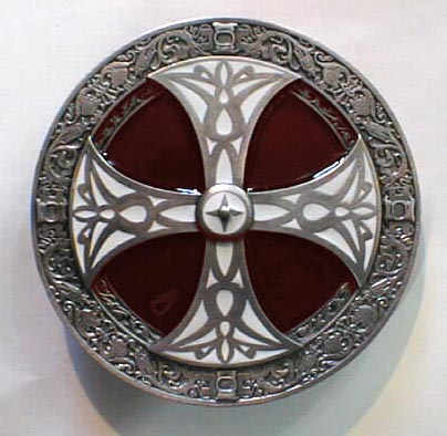 CELTIC CROSS CIRCLE ART Buckles