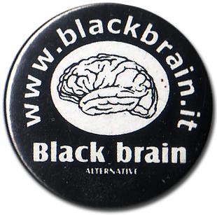 BOTTON BLACK BRAIN Pins & Stickers