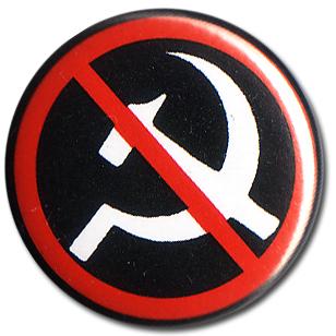 BOTTON COMMUNISM NO THANKS Pins & Stickers