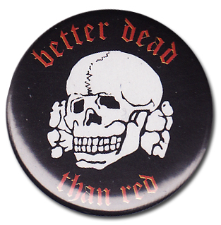 BOTTON BETTER DEAD THAN RED Pins & Stickers