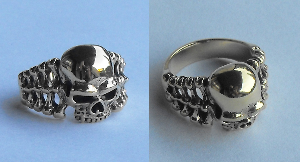 RING SKULL AND BONES Extras