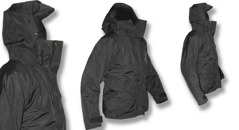 CHECK POINT PARKA BLACK Jackets