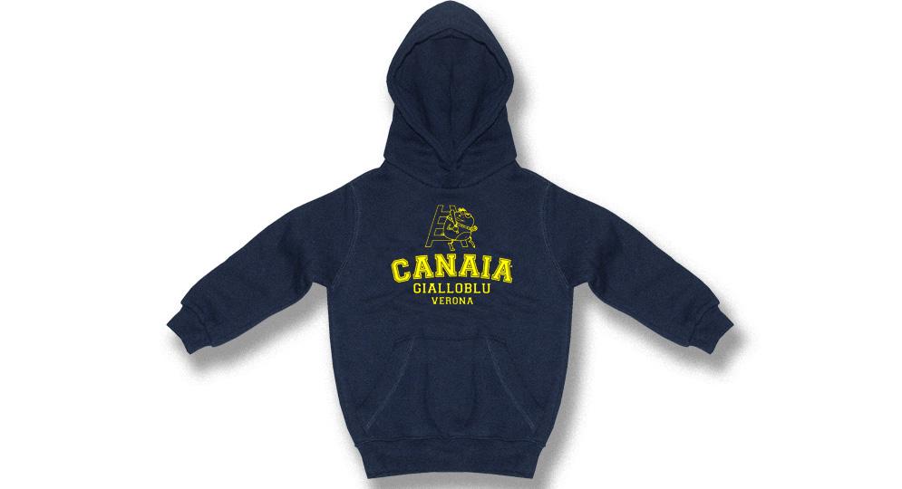 FELPA Capp.CANAIA GIALLOBLU Ultras Baby