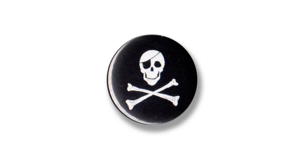 BOTTON JOLLY ROGER Pins & Stickers
