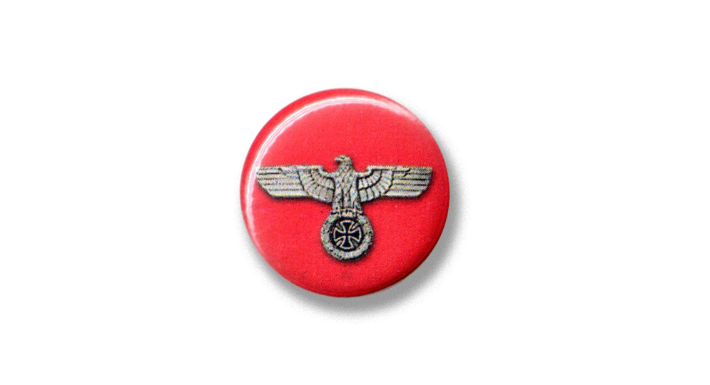 BUTTON PIN EAGLE CROSS Pins & Stickers