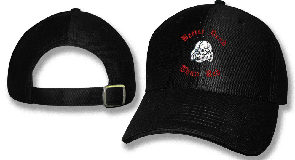 CAP BETTER DEAD THAN RED Caps