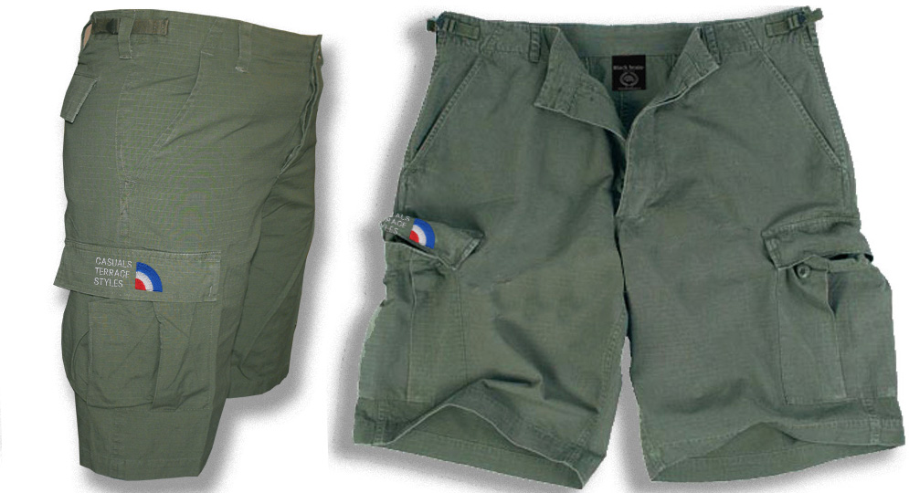 BERMUDA ARMY OLIVE CASUALS ESSENTIAL Shorts & trousers