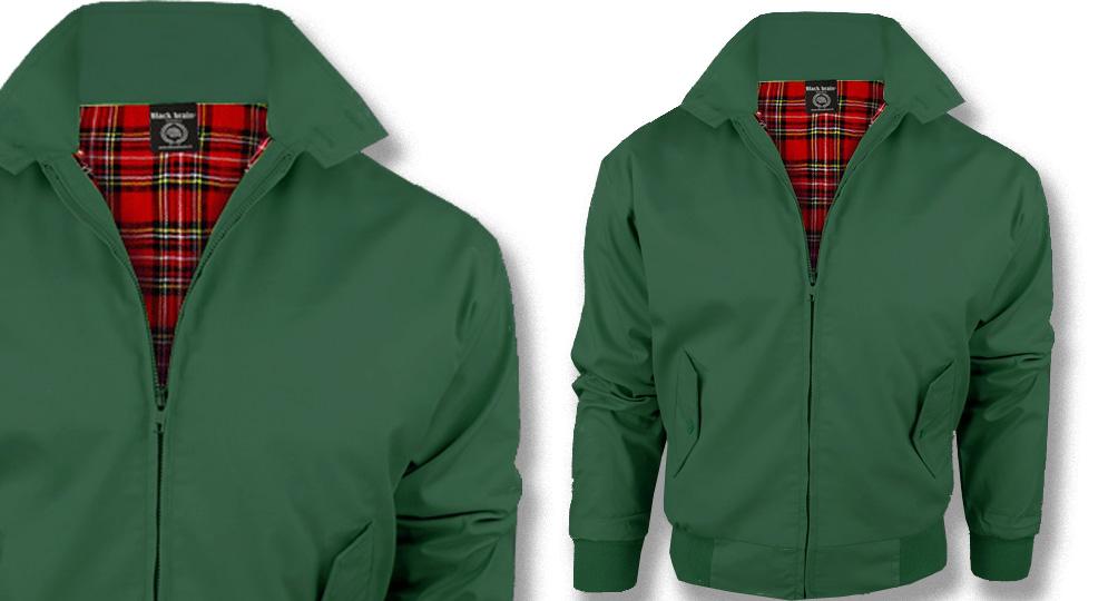 HARRINGTON JACKET BOTTLE GREEN Jackets