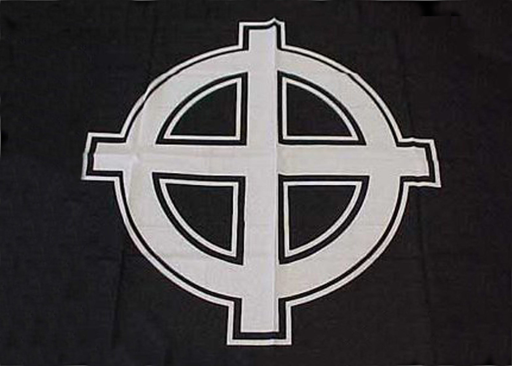 Black Celtic Cross Flags