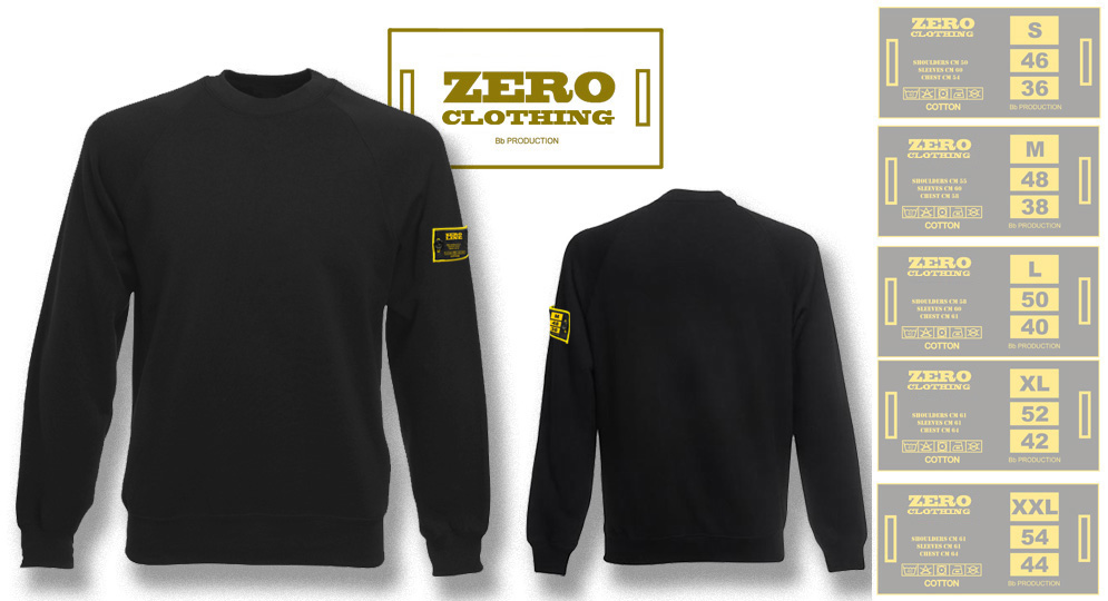 FELPA GIROCOLLO NERA Zero Clothing