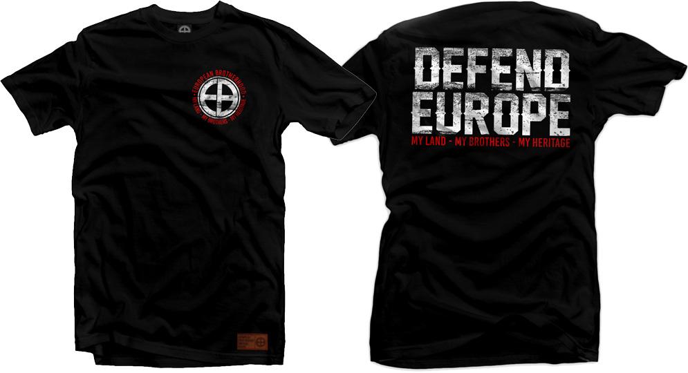 T-SHIRT DEFEND EUROPE BLACK Urban Style