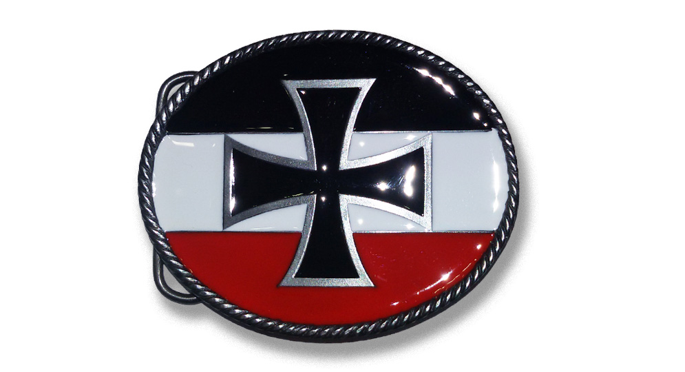 IRON CROSS BLACK/WHITE/RED Buckles