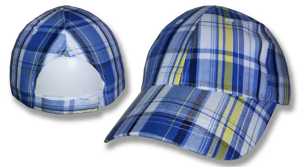 CAP TARTAN BLUE/YELLOW Caps