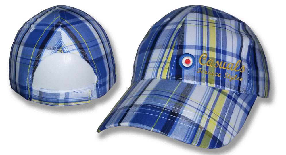 CAP TARTAN BLUE/YELLOW CASUAL TARGET Caps