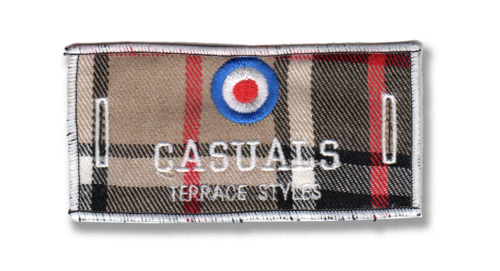 CASUALS TARGET TARTAN LABEL FOR BUTTONS Patches