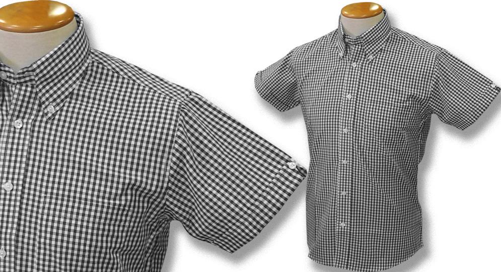 GINGHAM SHIRT BLACK Polos Pullovers Shirts