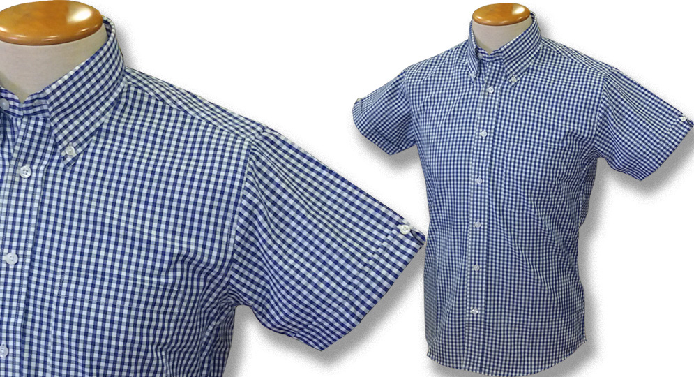GINGHAM SHIRT BLU Polos Pullovers Shirts