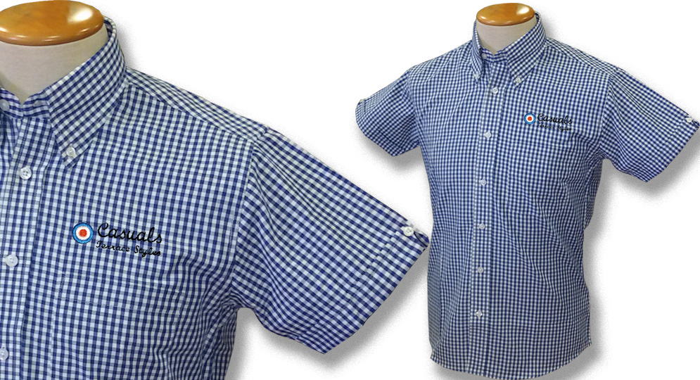 GINGHAM SHIRT CASUALS TARGET BLU Polos Pullovers Shirts