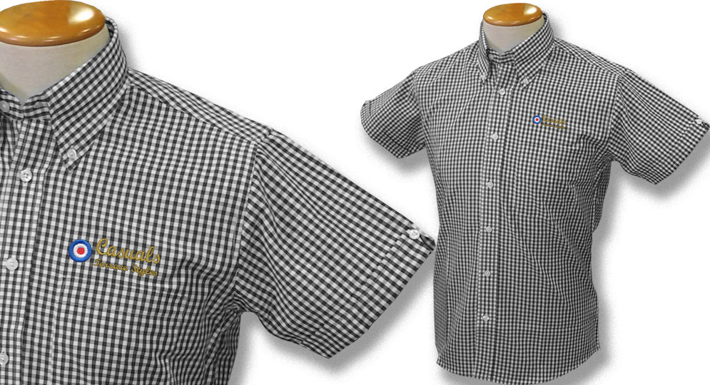 GINGHAM SHIRT CASUALS TARGET BLACK Polos Pullovers Shirts
