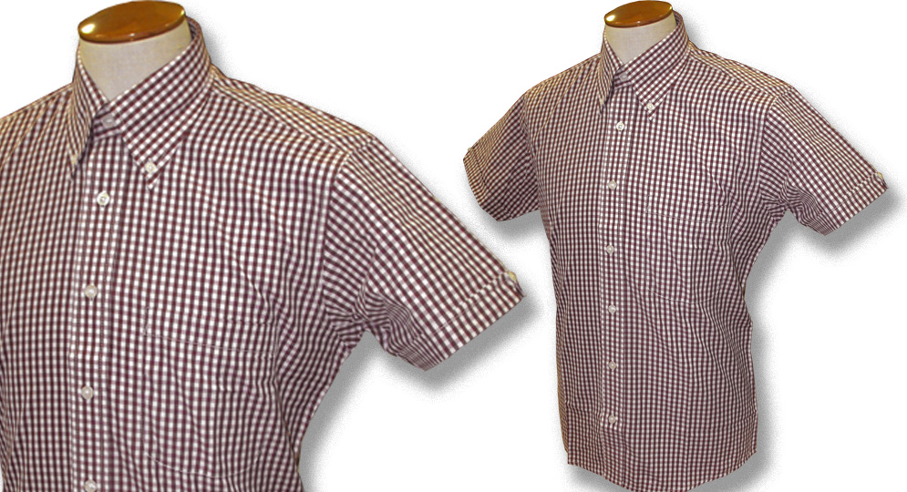 GINGHAM SHIRT BORDEAUX Polos Pullovers Shirts