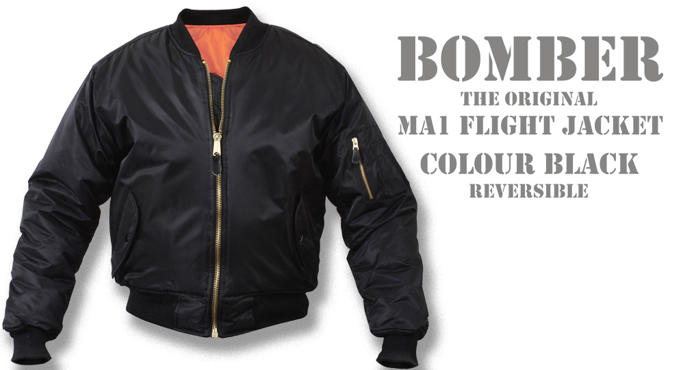 BOMBER BLACK Jackets