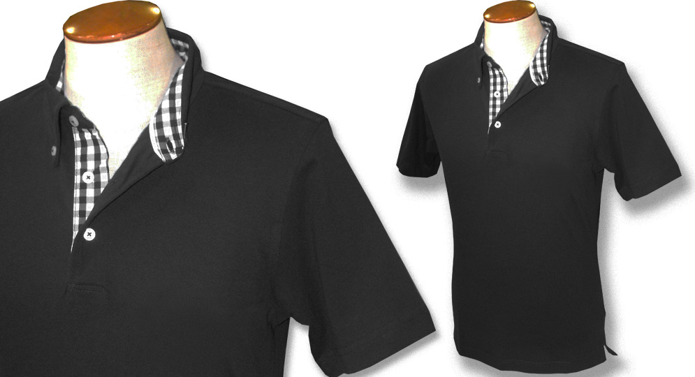 POLO GINGHAM NERA Polos Pullovers Shirts