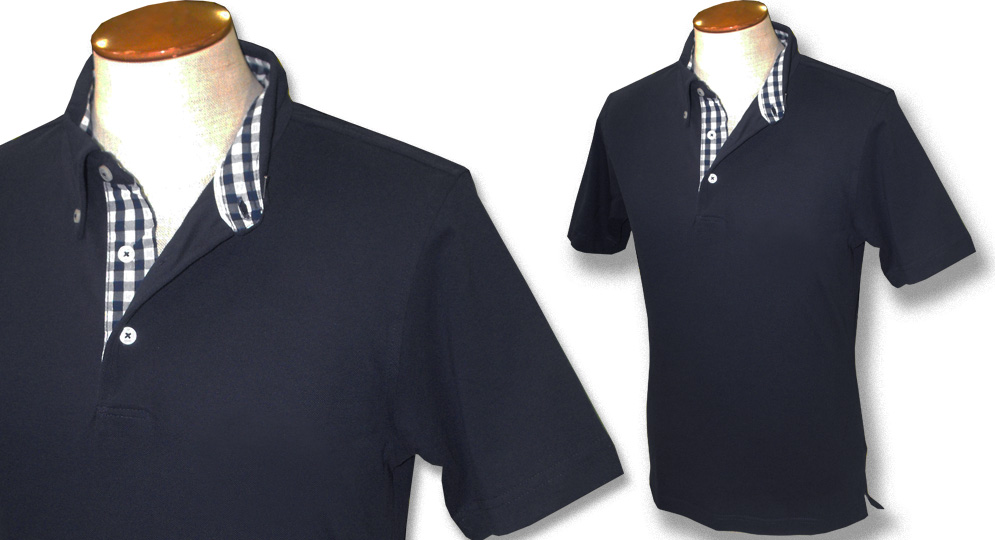 POLO GINGHAM BLU Polos & Pullovers
