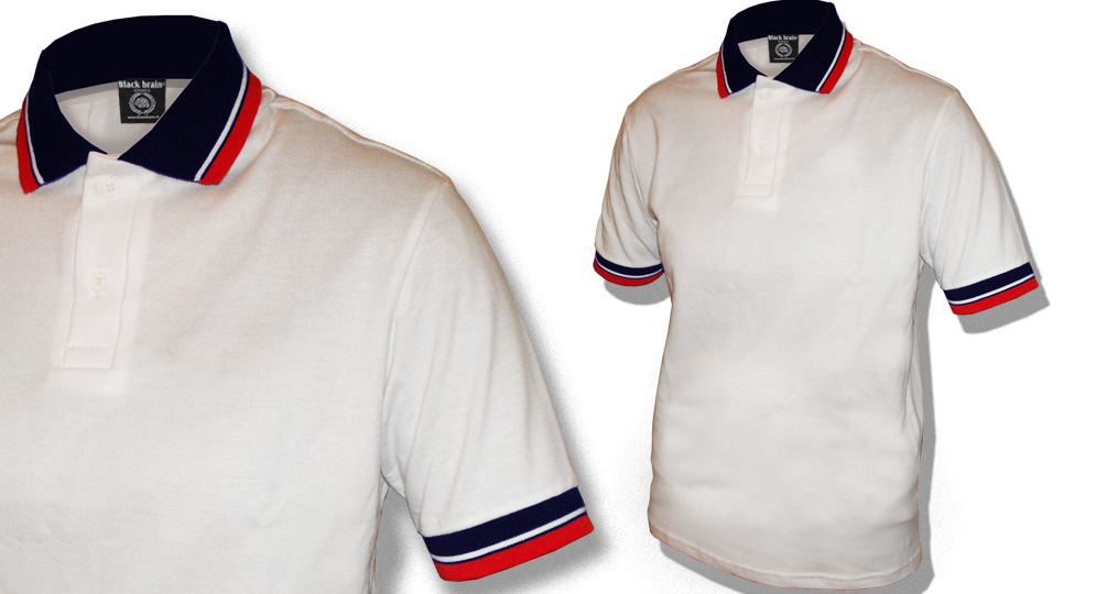 POLO WHITE BLUE RED Polos Pullovers Shirts
