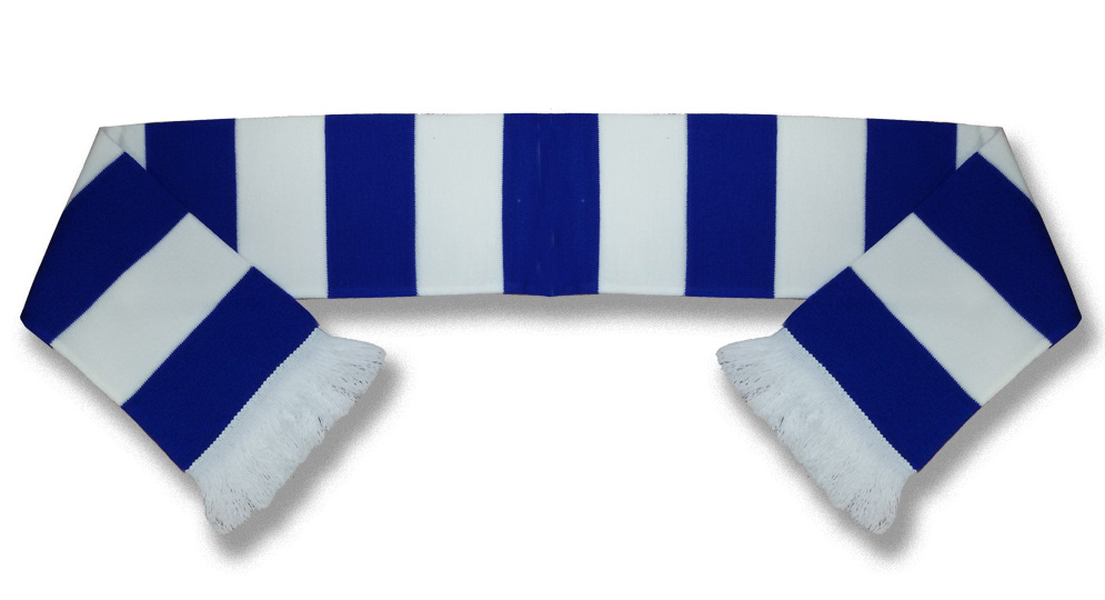 BLUE AND WHITE BAR Scarves