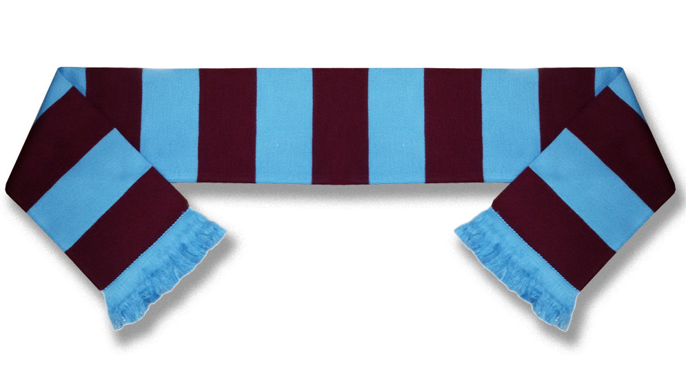 CLARET AND BLUE BAR Scarves