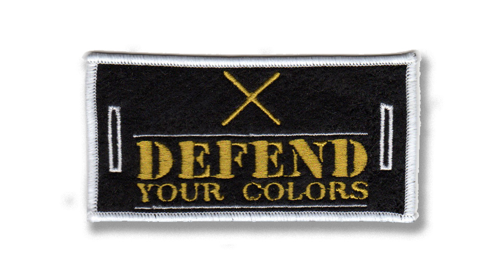 DEFEND YOUR COLORS LABEL FOR BUTTONS