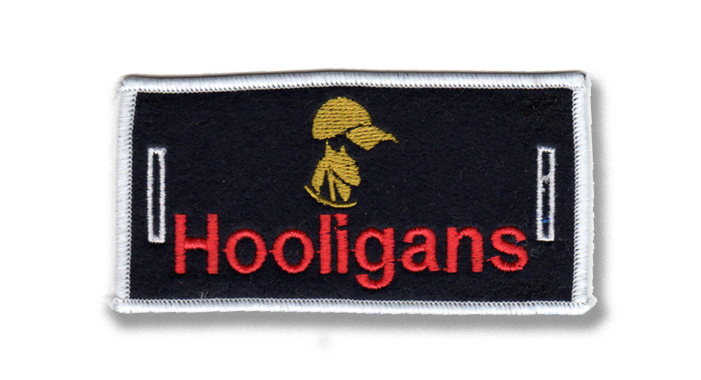 HOOLIGANS LABEL FOR BUTTONS Patches