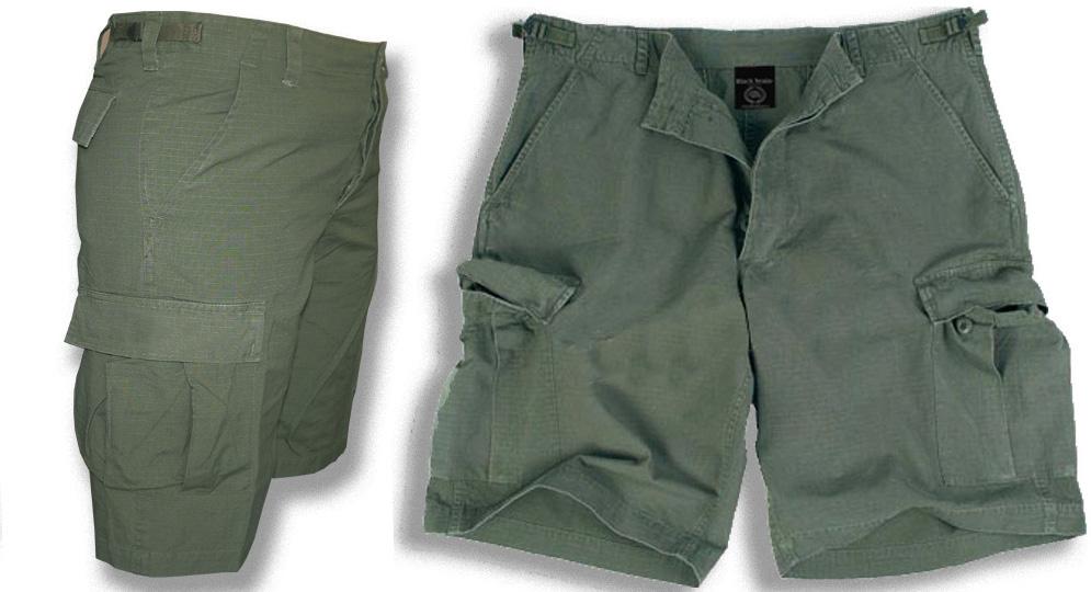 BERMUDA ARMY OLIVE Shorts & trousers