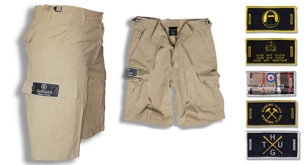 BERMUDA ARMY SAND BUTTON LABEL Shorts & trousers