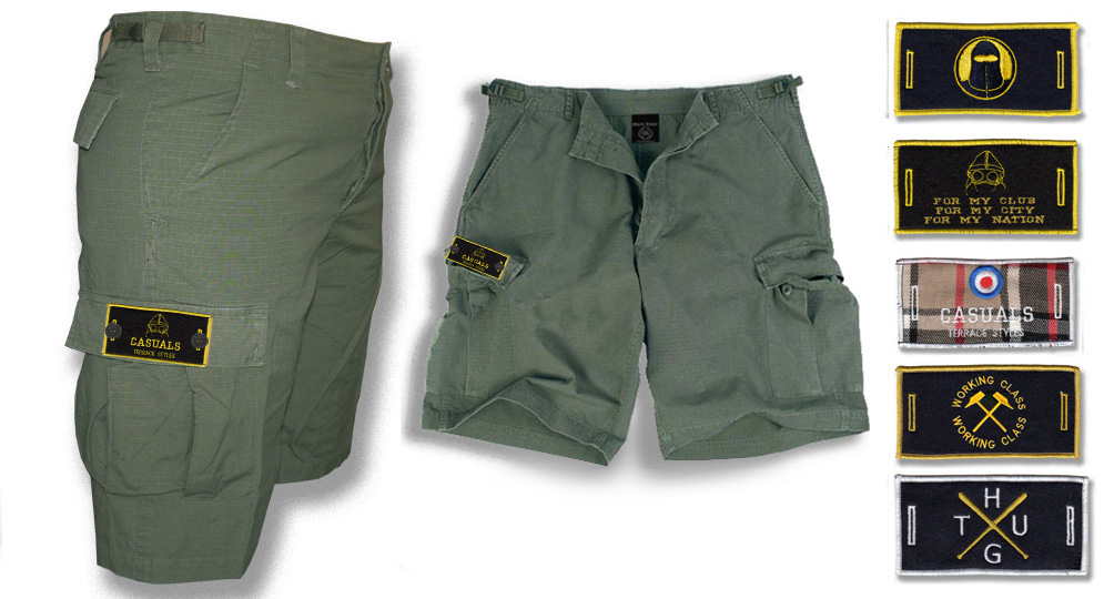 BERMUDA ARMY OLIVE BUTTON LABEL Shorts & trousers