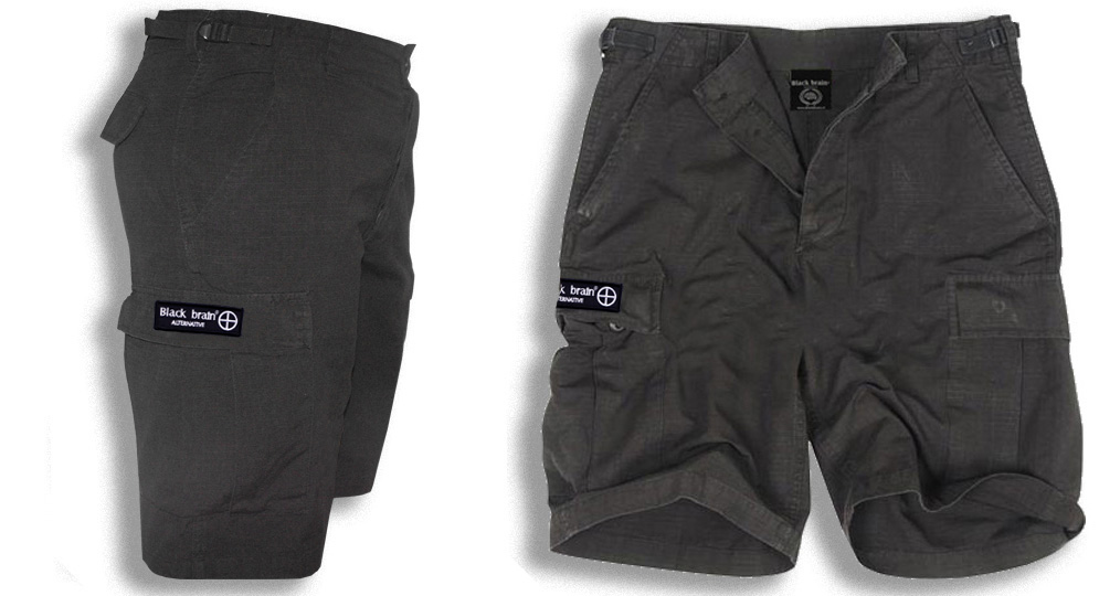 BERMUDA ARMY BLACK BRAIN Shorts & trousers