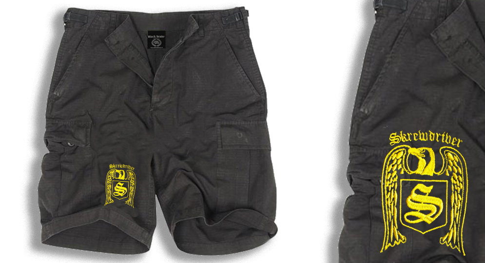 BERMUDA ARMY BLACK SKREWDRIVER Shorts & trousers