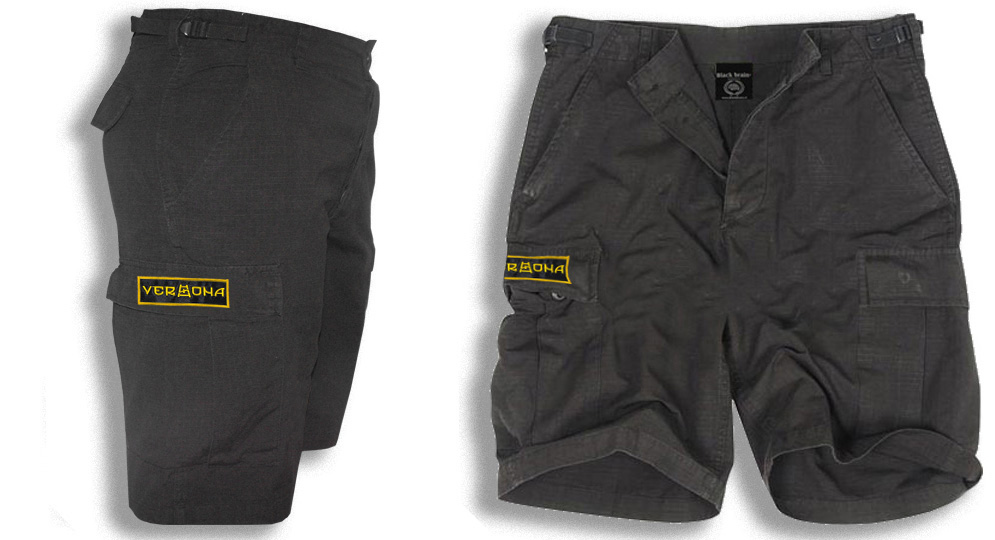 BERMUDA ARMY BLACK VERONA SCALA RUNA Shorts & trousers