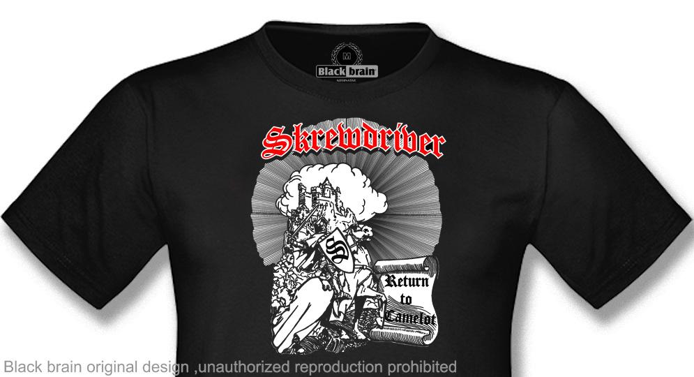 SKREWDRIVER RETURN TO CAMELOT T-shirts