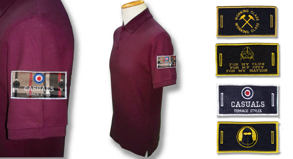 POLO BORDEAUX BUTTON LABEL