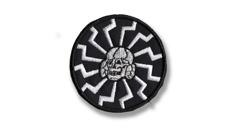 Black Sun Skull Patches