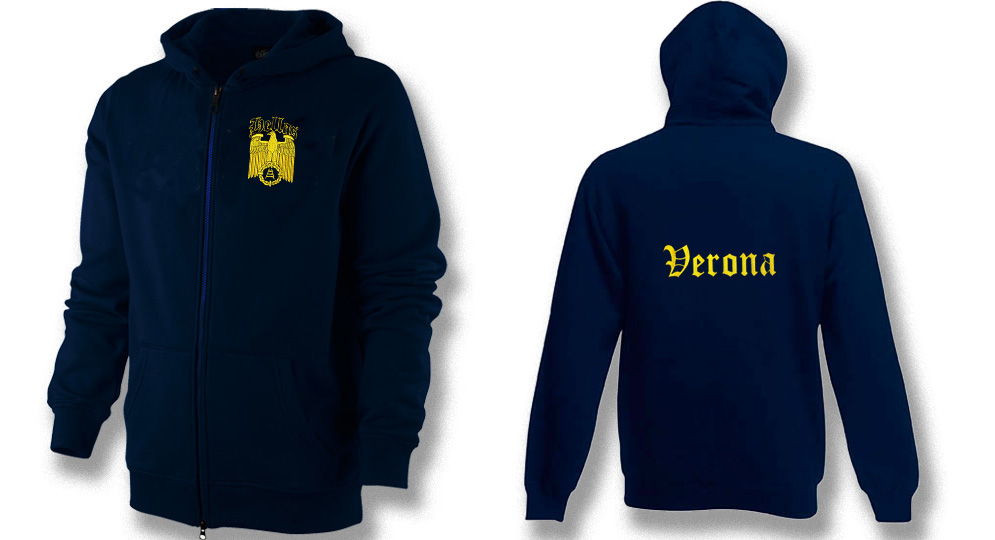 HOODY ZIP AQUILA VERONA IMPERO Sweats