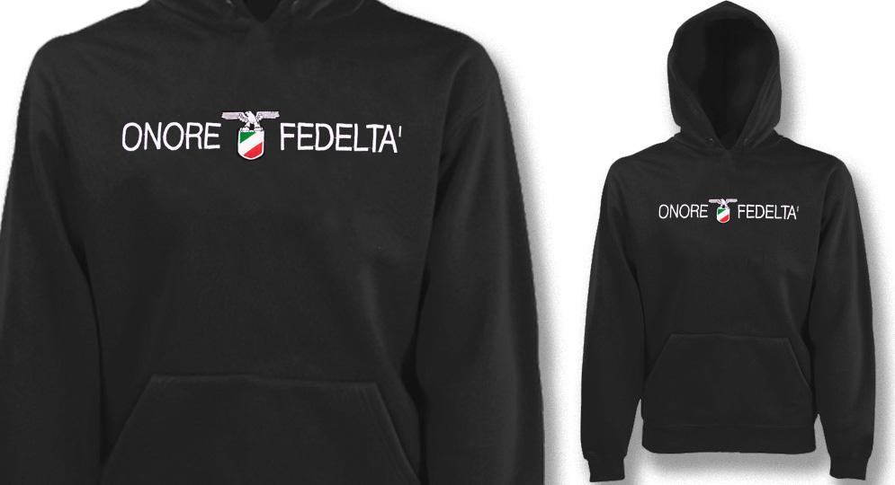 FELPA CAPPUCCIO ONORE E FEDELTA' Sweaters & Hoodies