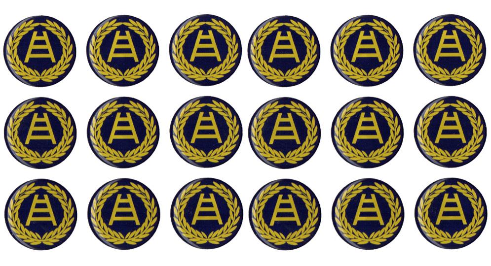 ADESIVO DA TARGA RESINALO ALLORO SCALA Pins & Stickers