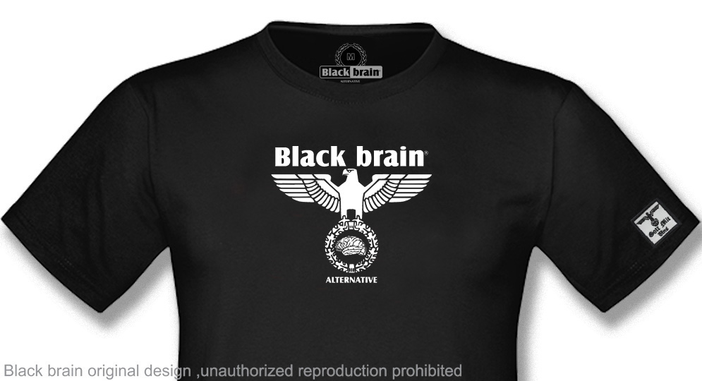 BLACK BRAIN FLYING EAGLE T-shirts