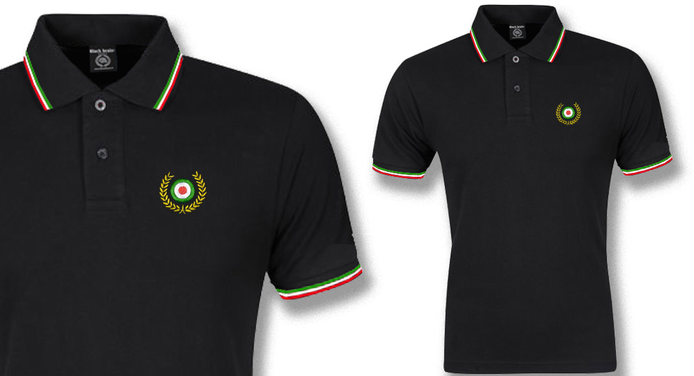 POLO TRICOLORE ALLORO ITALIA Polos & Pullovers