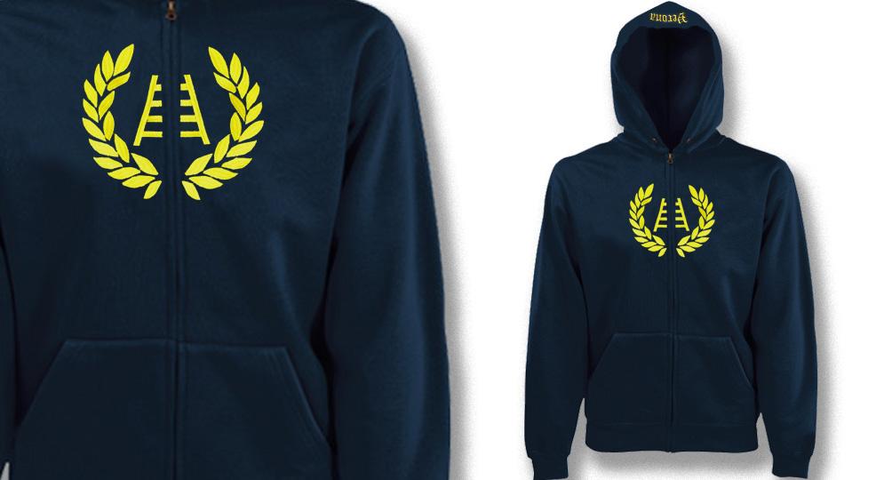 HOODY ZIP VERONA CORONA SCALA Sweaters & Hoodies