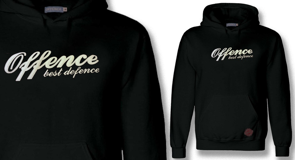 HOODY OFFENCE BEST DEFENCE BLACK Offence best defence