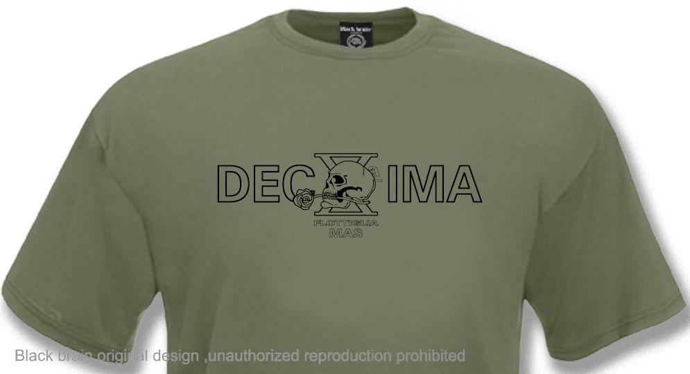 DECIMA MAS COMBAT OLIVE T-shirts